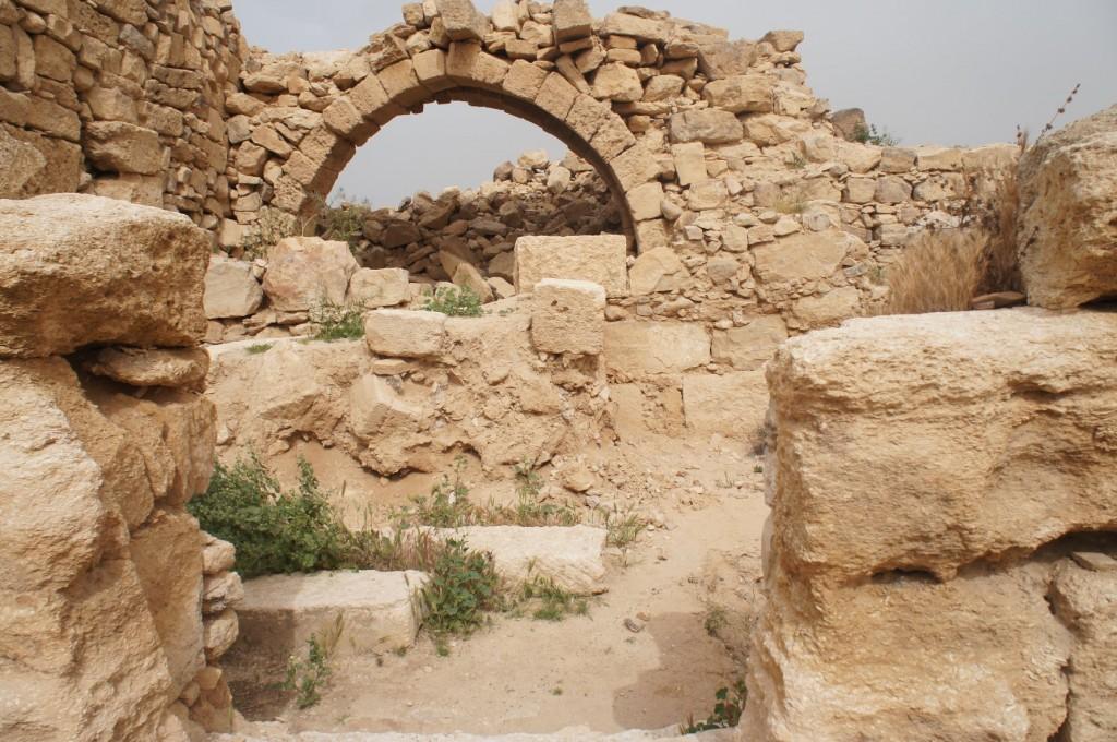 Exploring Umm ar-Rasas.
