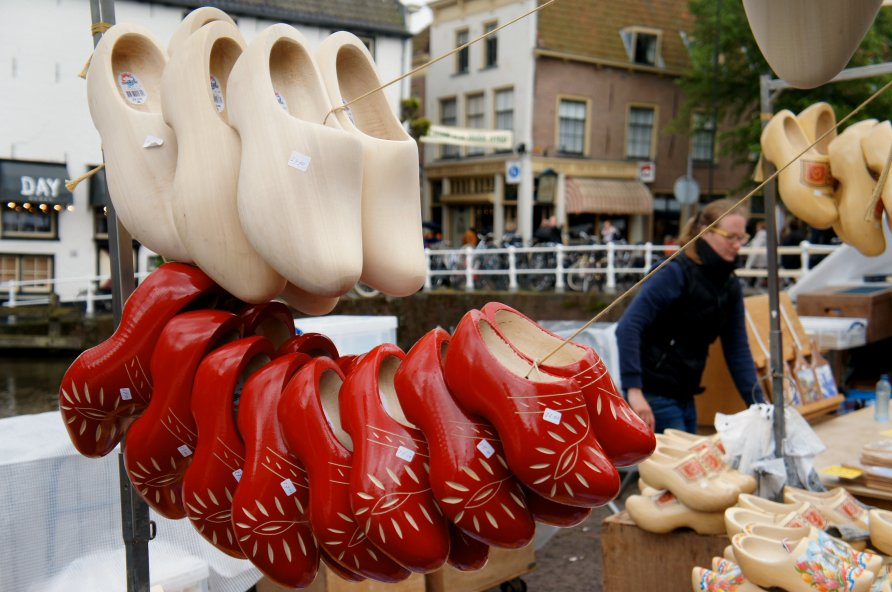 Selection of clogs at the cheesemarket