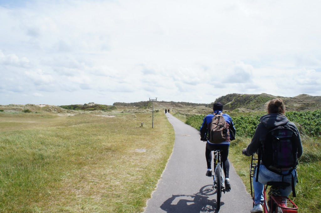 Cycling through the dunes!