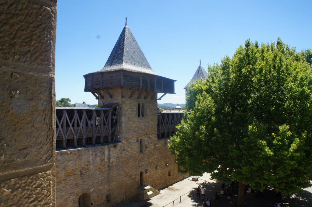 Walls of the castle of Carcassonne.