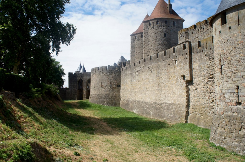 City walls of Carcassonne.