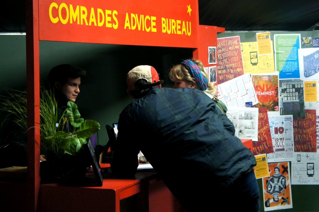Guerilla Island: Comrades Advice Bureau from ACORN and IWGB.