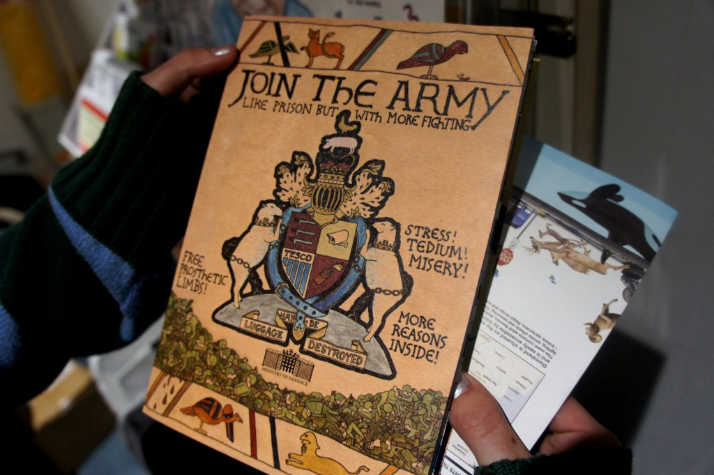 Anti-army pamphlet by Darren Cullen