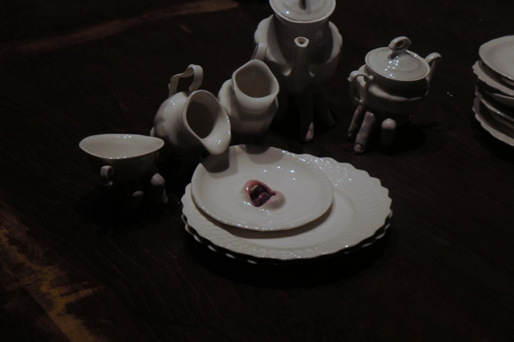 Creepy crockery by Ronit Baranga