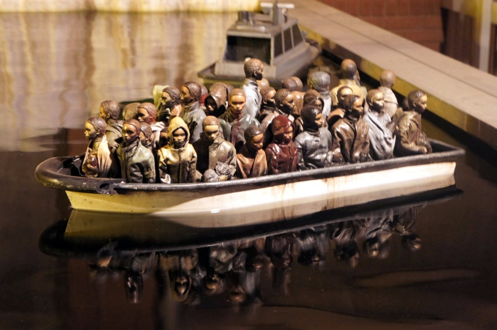 The migrant boat game by Banksy