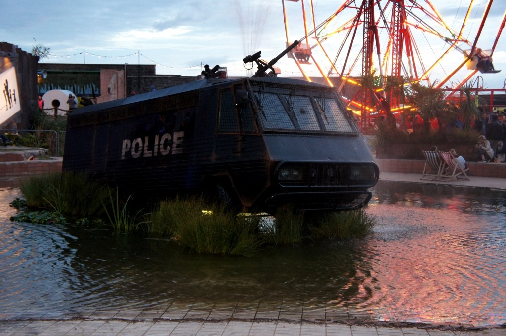 Police Van Fountain by Banksy