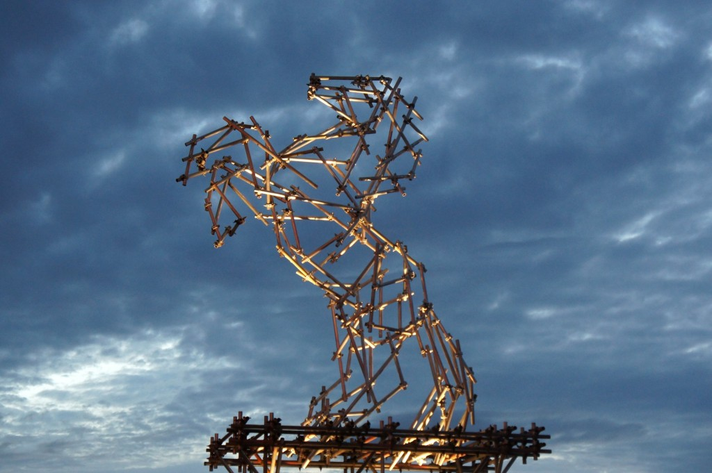 Scaffolding sculpture by Ben Long.