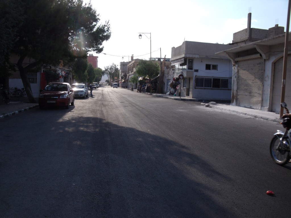 Main street of Palmyra/Tadmur downtown, 2010.