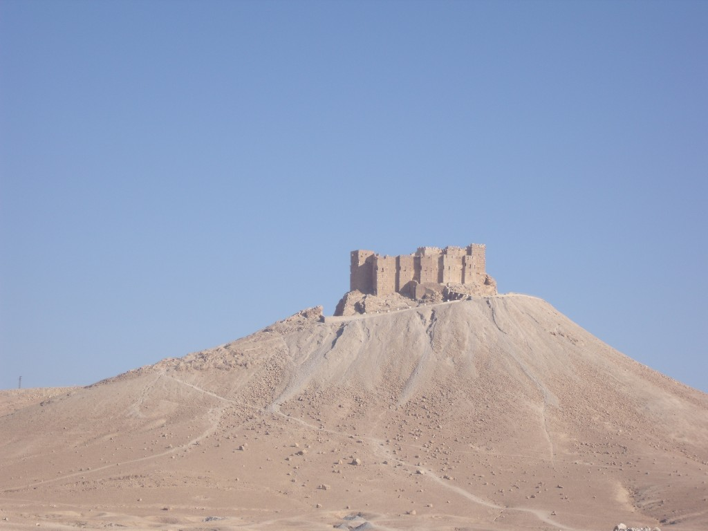 Medieval fortress (Qal'at Ibn Ma'an / Qal'at Fakhr al-Din) of Palmyra, 2010.