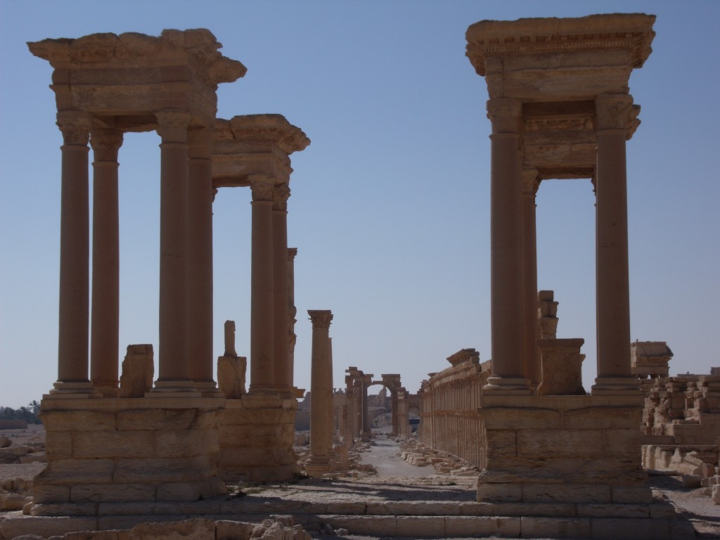 The Tetrapylon, Palmyra, 2010.