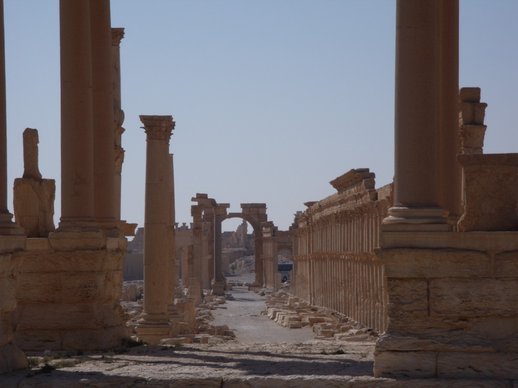 View of the main gate of Palmyra, 2010.