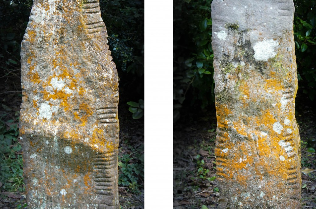 Stones originally from Ballinrannig. Left reads MAQQI CUNITTI; (M)A(Q)QI QETTI(A). Right: DUBONIRRAS MAQQI TENAC( ).