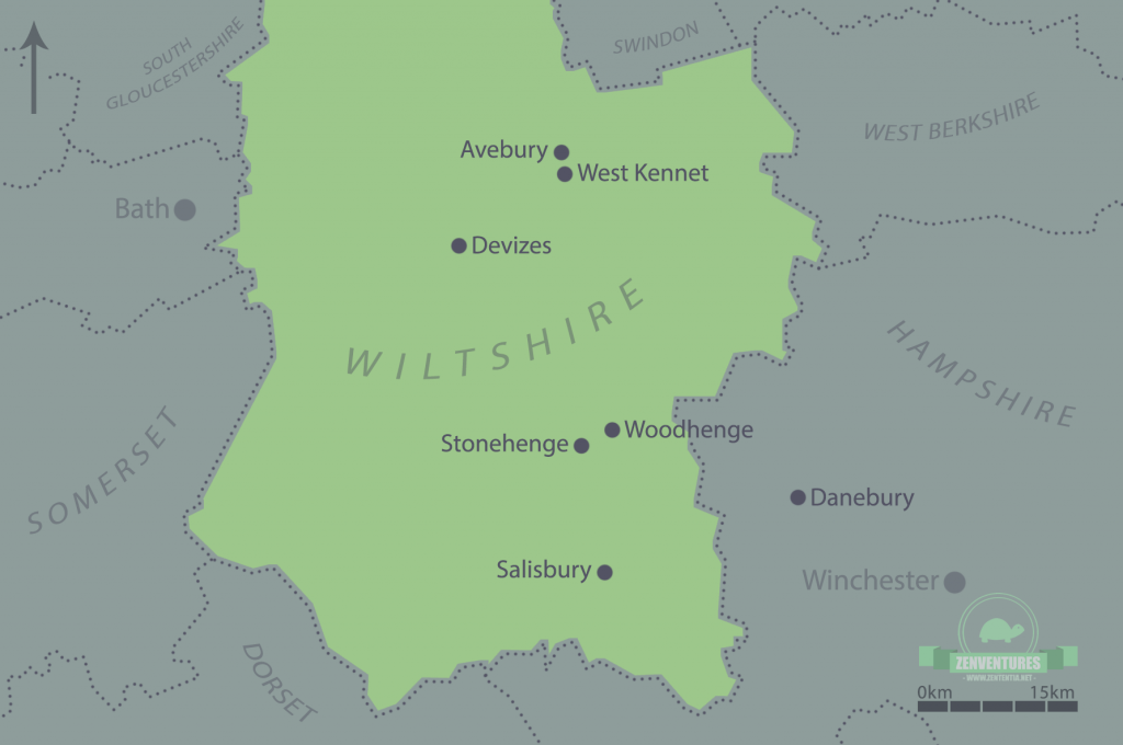 Map of Wiltshire and the wider Stonehenge landscape, made by me!
