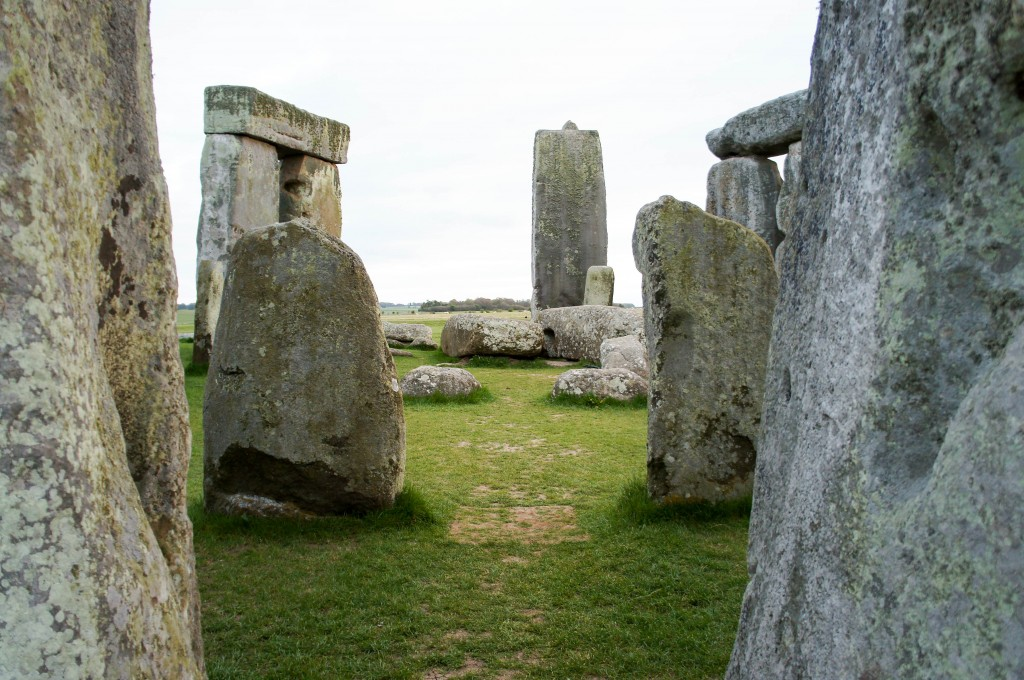 Entering the inner circle of Stonehenge.