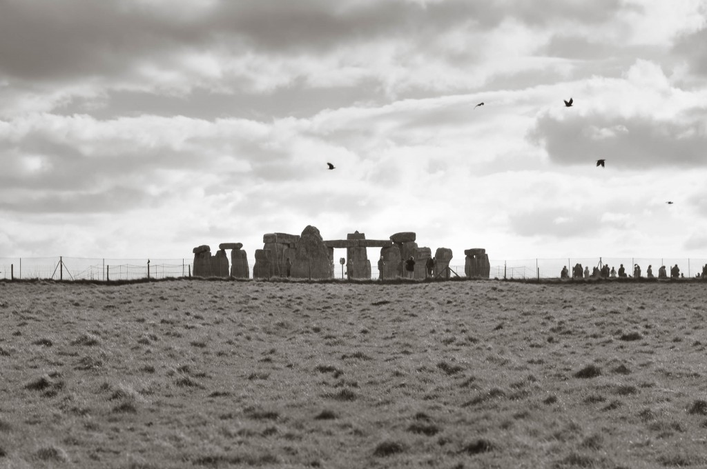 Approaching Stonehenge the ancient way.