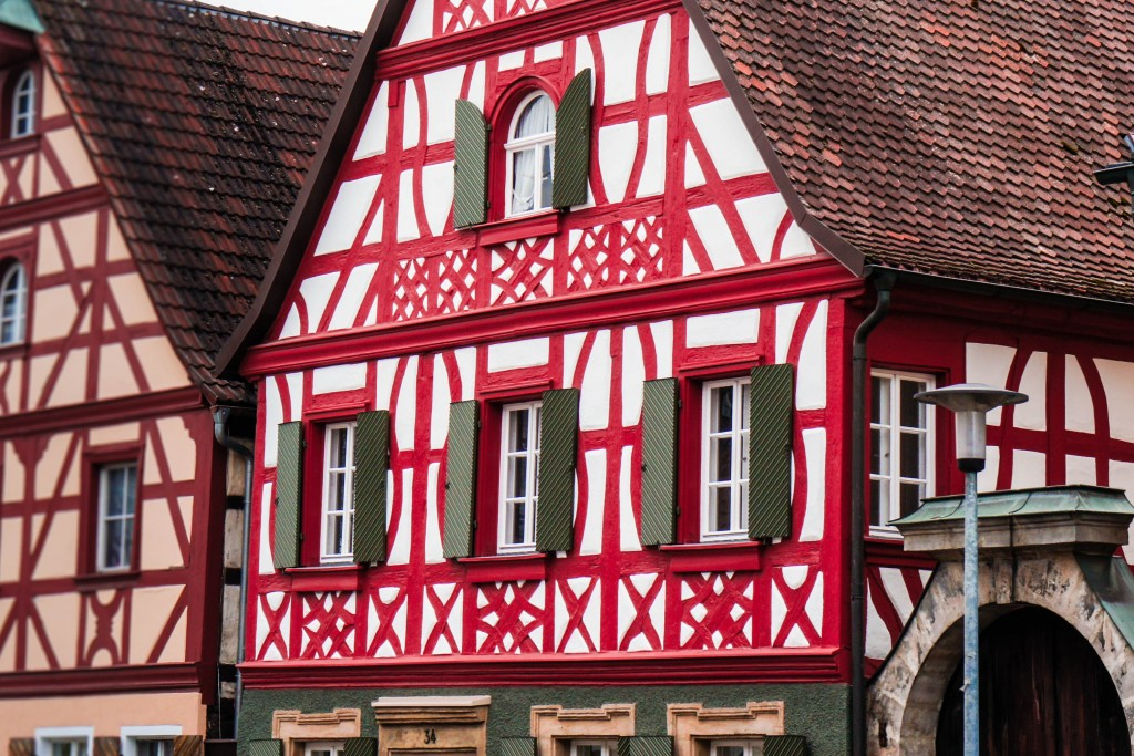 Beautiful German fachwerk houses in Baiersdorf < 3