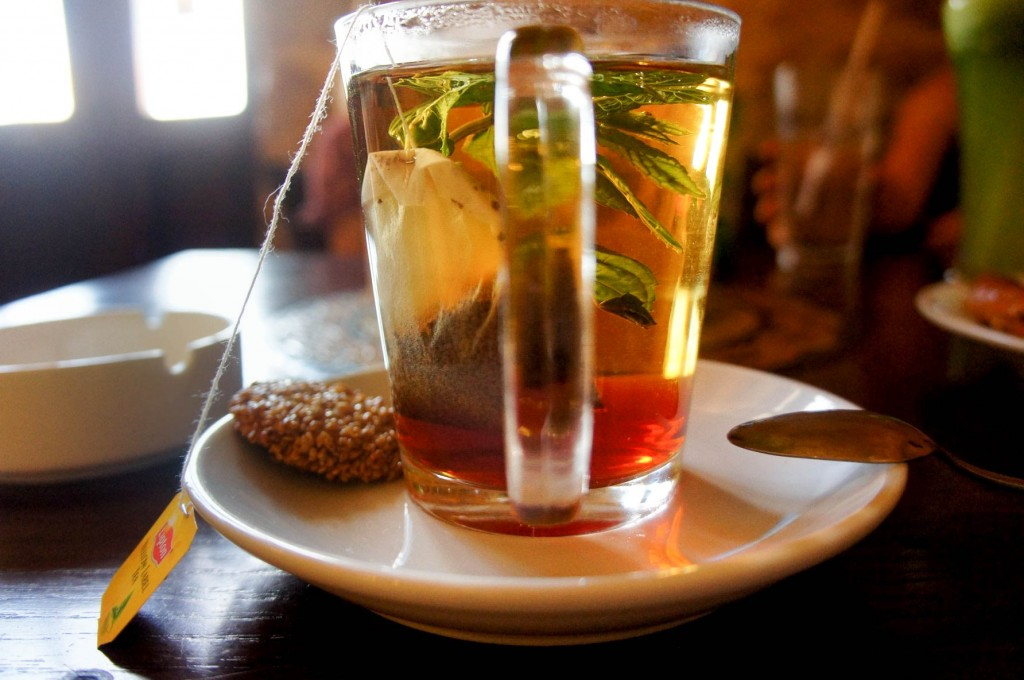 Mint tea and Barazek in Madaba, Jordan, 2015.