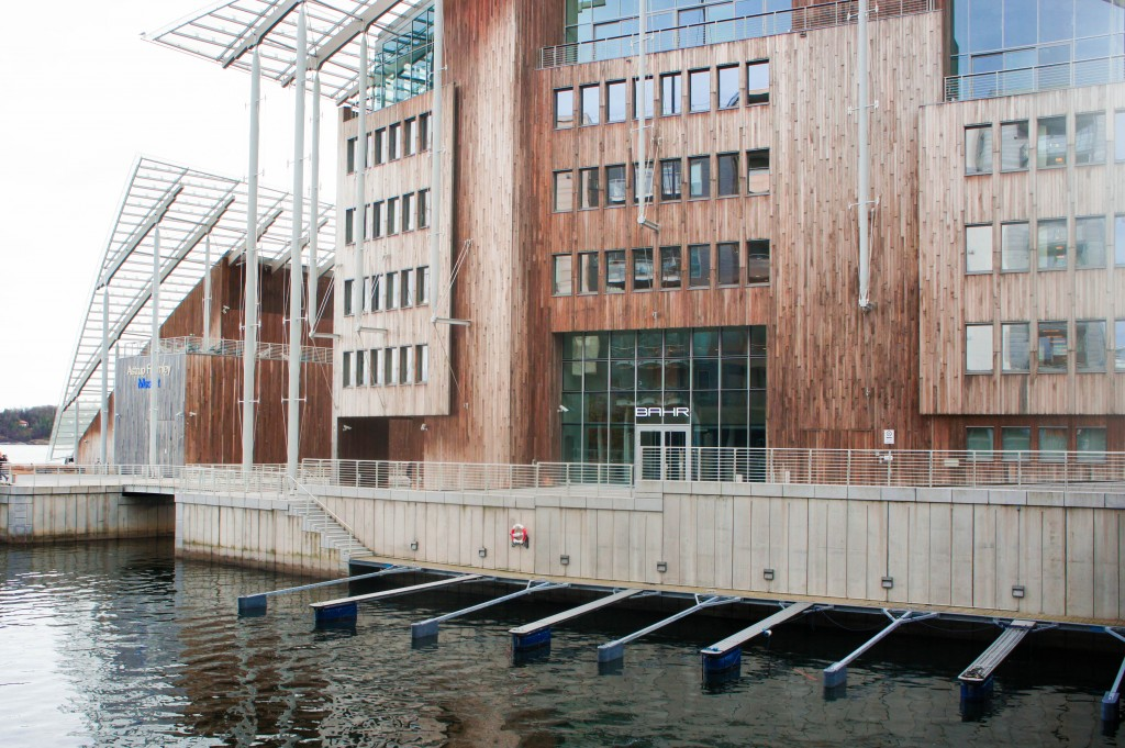The incredible exterior of the Astrup Fearnly Museum of Modern Art.