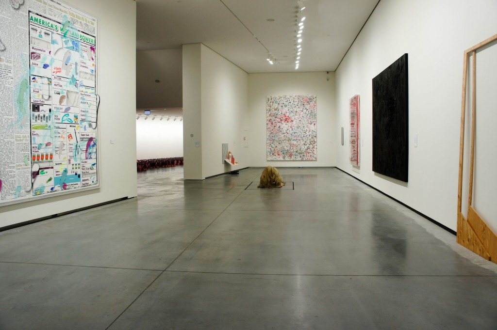 View of the downstairs gallery of the AFM, permanent collection.