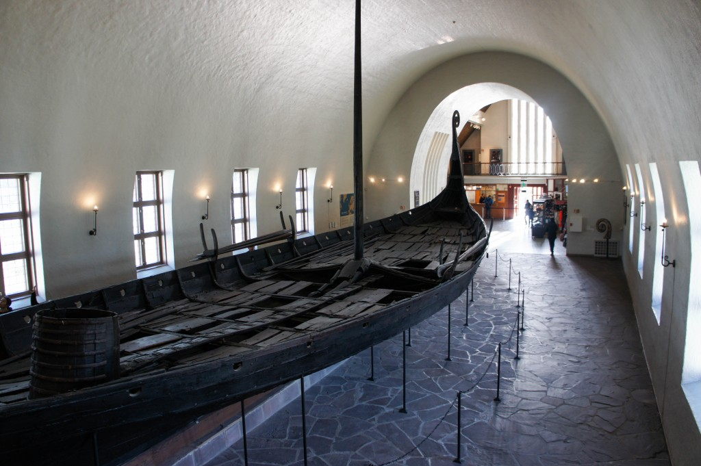 The Oseberg ship.