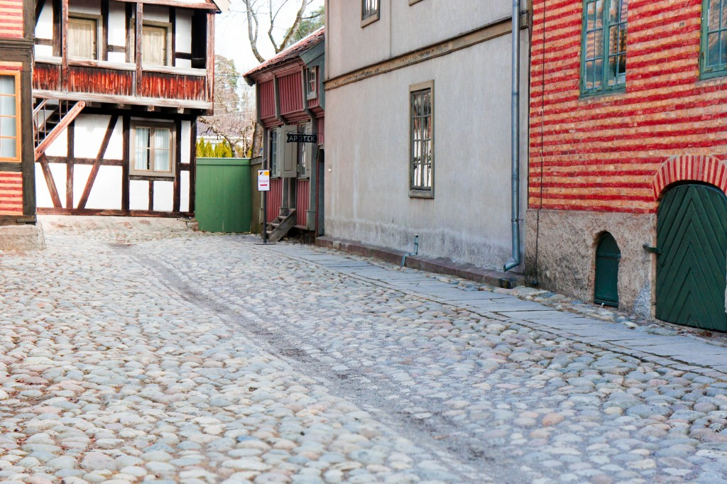 The reconstructed old city.