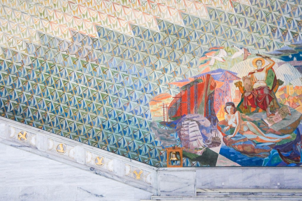 Mural in the main hall of the City Hall.