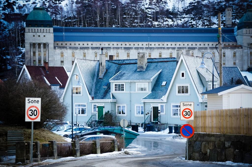 Rjukan town centre.