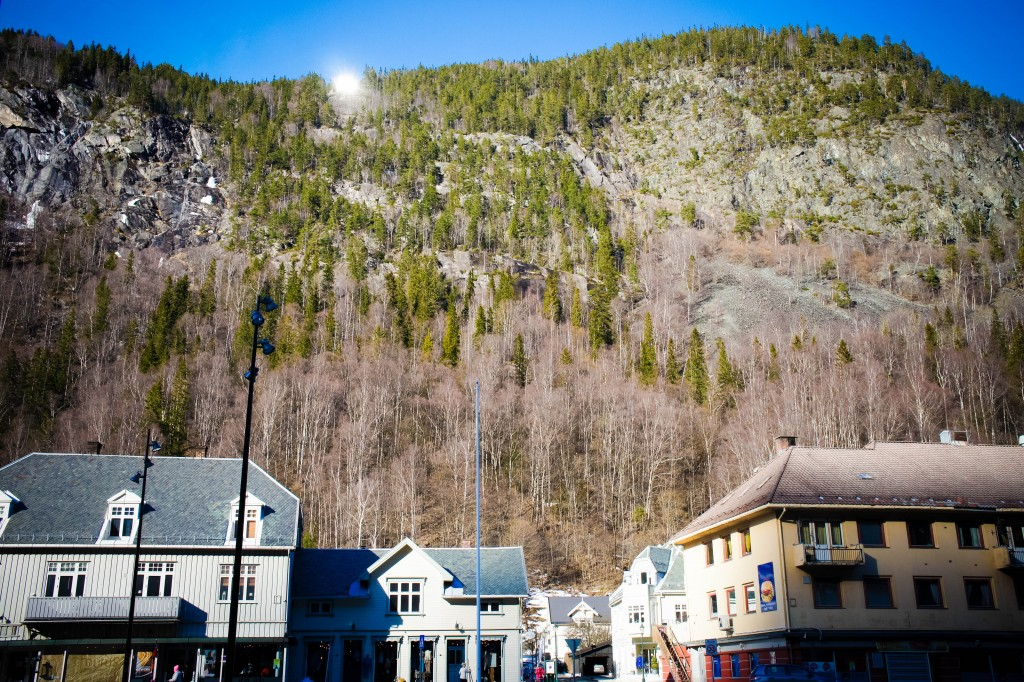 Sun mirrors of Rjukan.