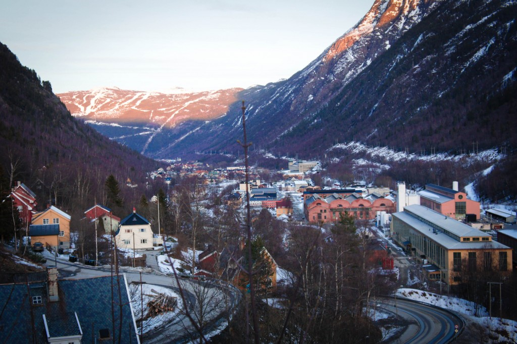 Looking out over Rjukan.
