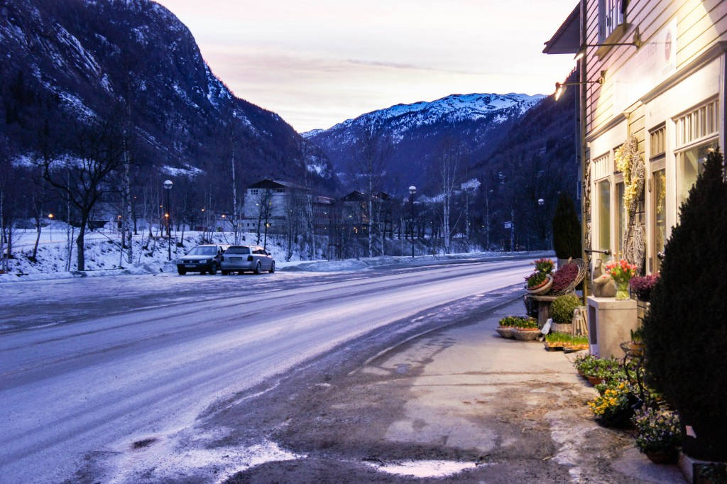 Late afternoon in Rjukan.