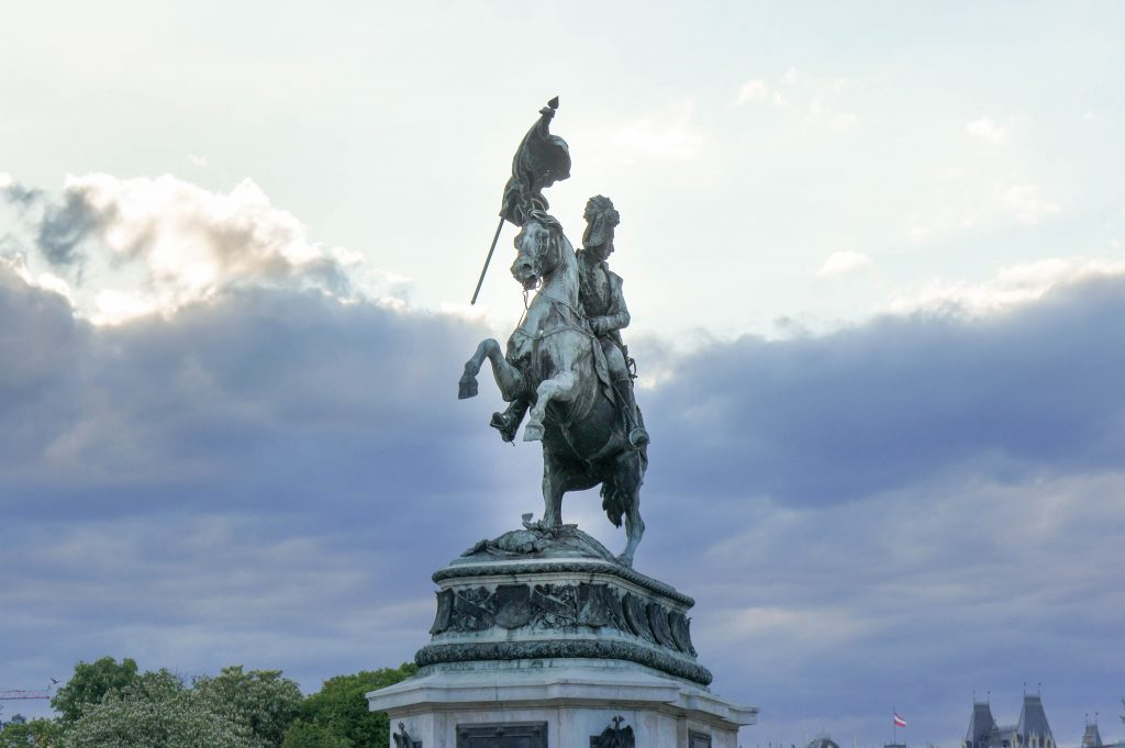 Statue of Archduke Charles at the Heldenplatz in Vienna