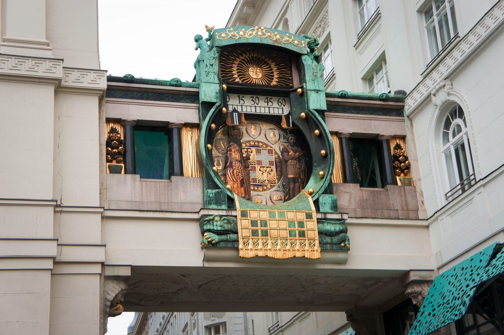 The Hoher Markt clock, Vienna