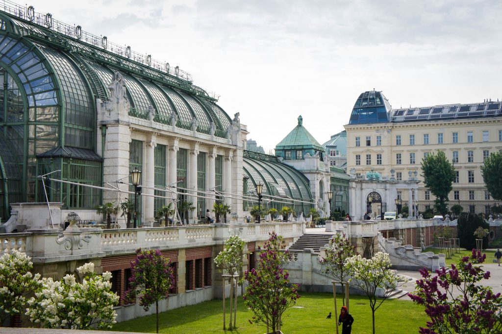 View of the Imperial Butterfly House in Vienna