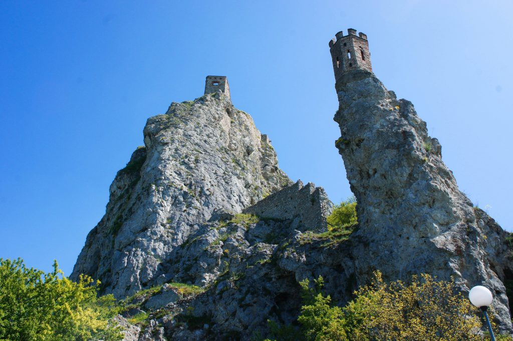 The famous towers of Devin Castle