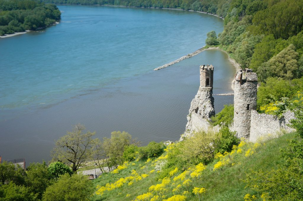 Towers of Devin Castle and the Danube