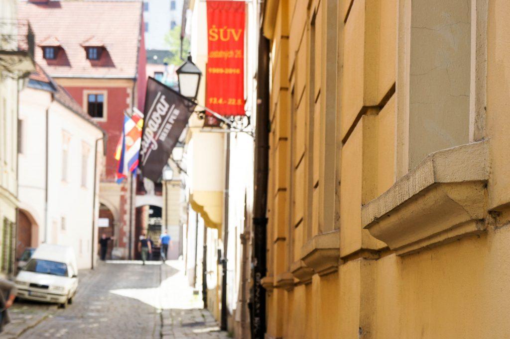 Beautiful sunny streets of Bratislava