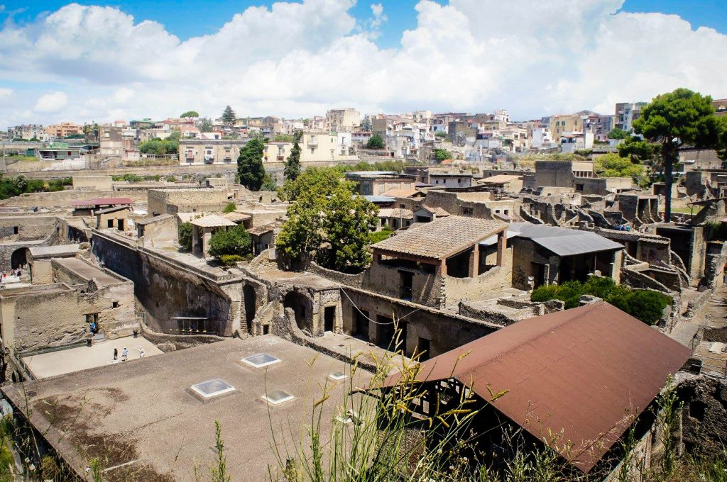 Looking out over Herculaneum, perfect integration of ancient with modern. Although, I would prefer to tear down a few modern buildings to see what's underneath...