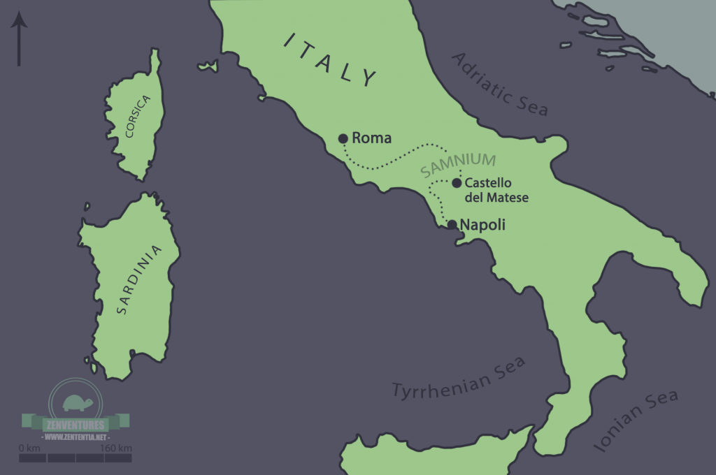 Map of South-Central Italy. Drawn by me!