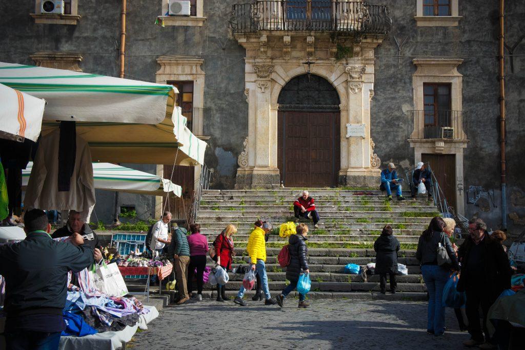 Catania market.