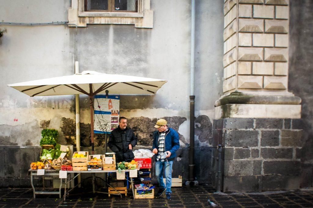 Vegetable stall near the university.