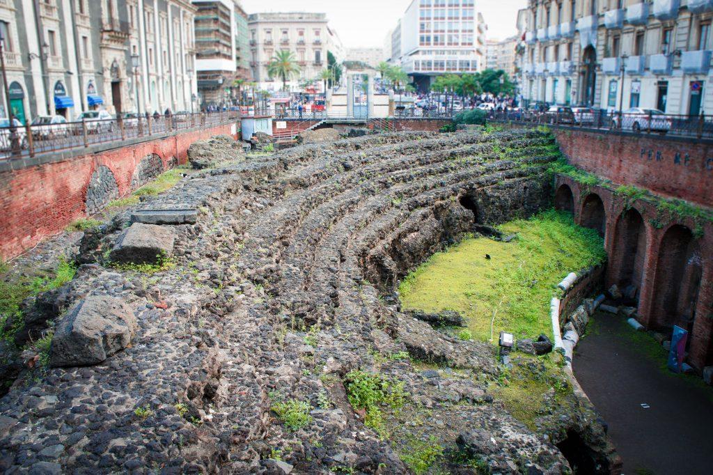 The Roman amphitheatre of Catania.
