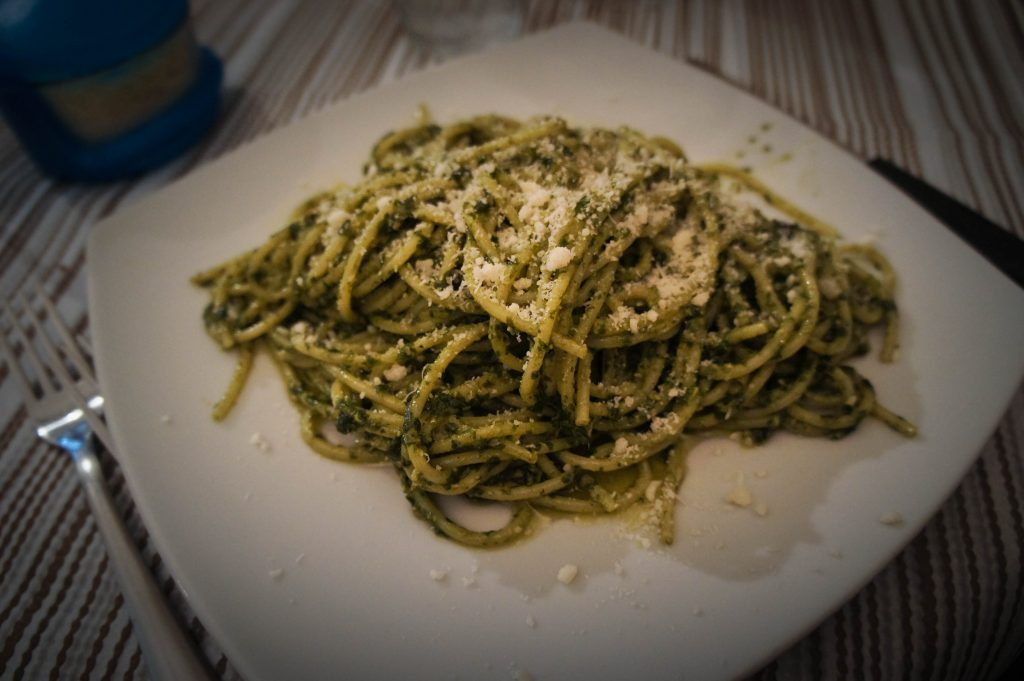 Pesto linguini.