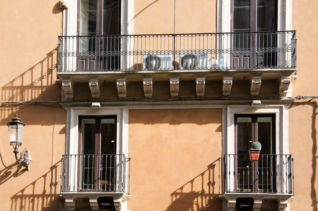 Little Sicilian balconies.