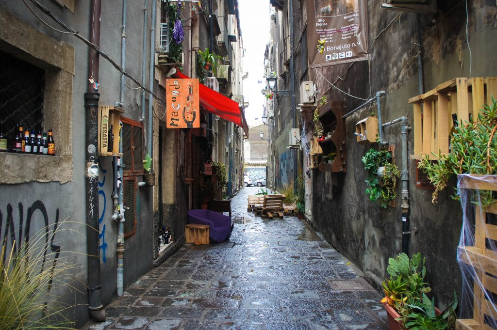 Streets of Catania. With little bit of rain.
