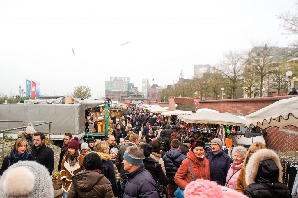Fish market of Hamburg.