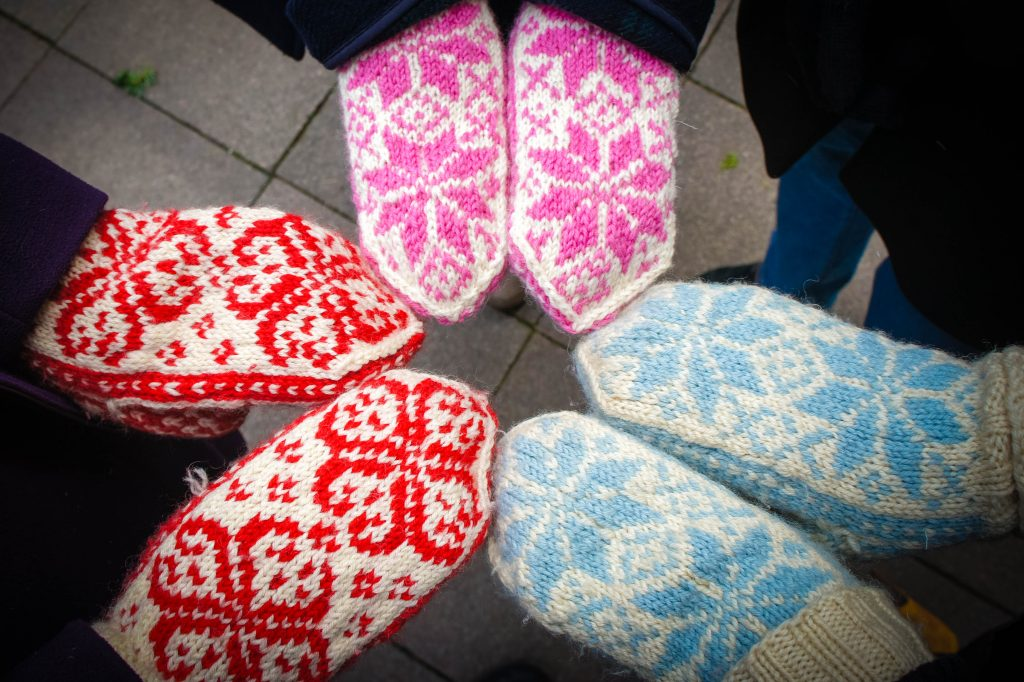 Collection of Norwegian mittens! : D
