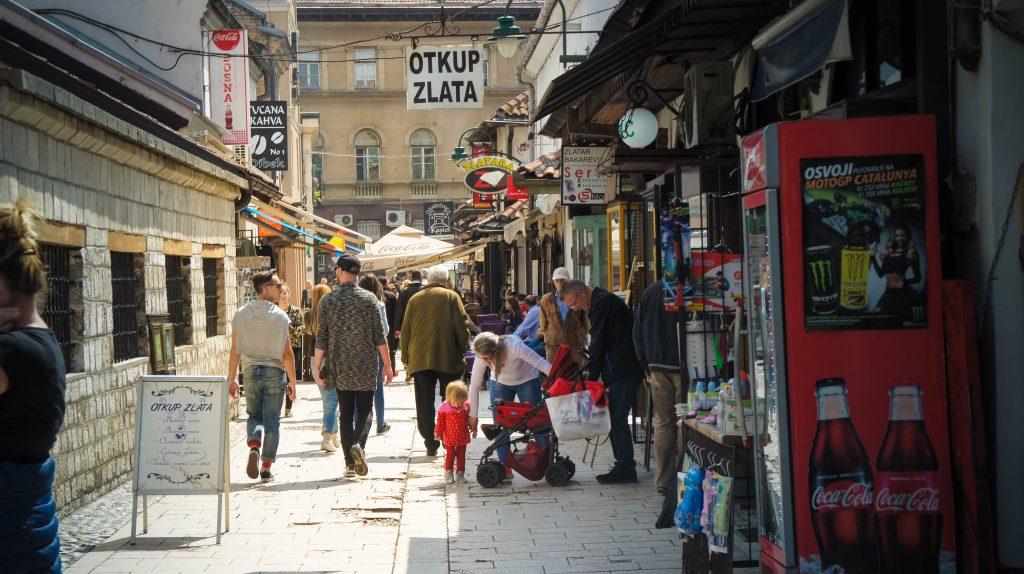 Sarajevo city centre.