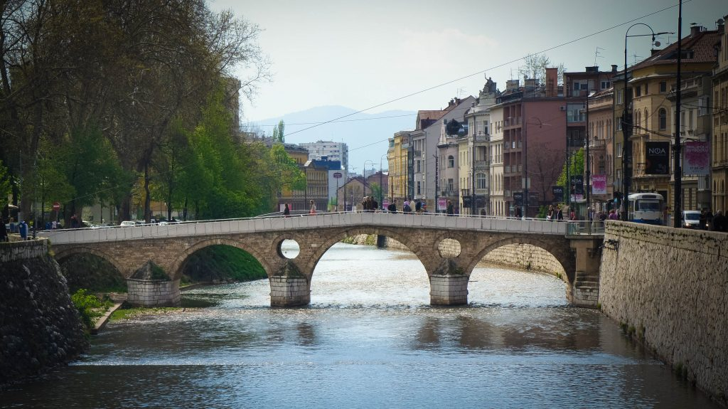 The so-called Latin Bridge of Sarajevo.
