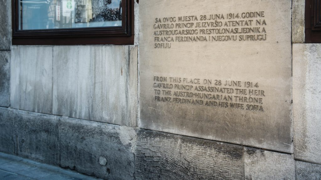 The spot where Franz Ferdinand was shot : (