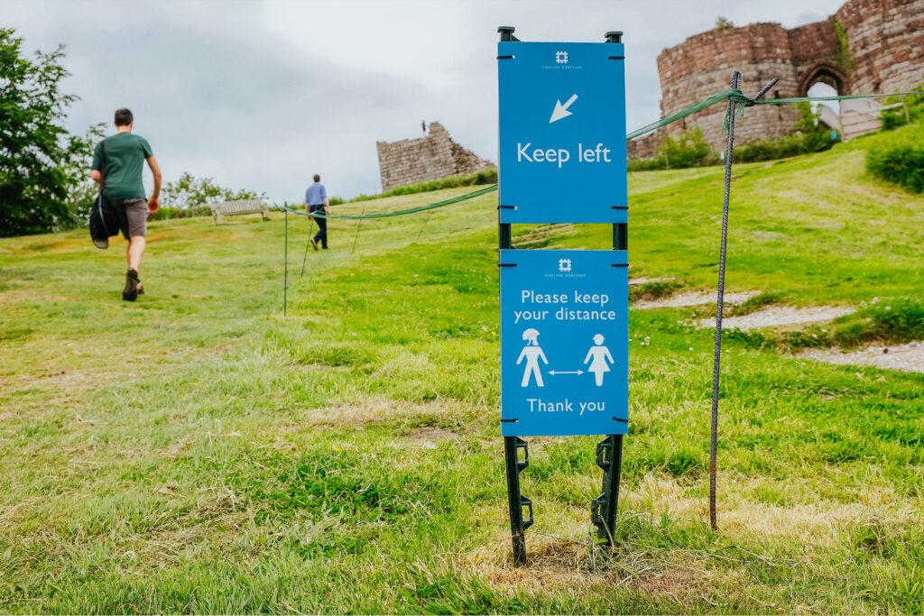 Safely exploring Beeston Castle, June 2021